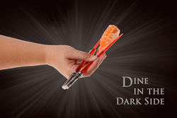 Dine in the Dark side, lightsaber chopsticks ad campaign